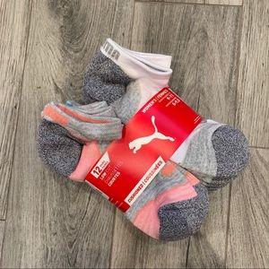 🆕 12 pairs, Women's Puma Low Cut Sport Socks